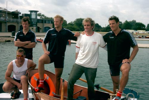 Tim with the GB Rowing Team